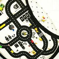 正規品play&go(プレイアンドゴー)[2in1ストレージバッグ&プレイマットロードマップ]ベビーマットおもちゃ収納