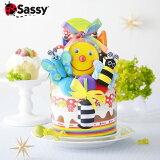 Sassy(サッシー)おむつケーキダイパーケーキ[スマイリーガーデン][あす楽対応][楽ギフ_包装]出産祝い出産内祝いお祝い出産おむつケーキサッシーsassy