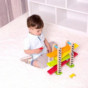 Classic(クラシック) [F1 レース トラック] [あす楽対応] 木製玩具 知育玩具 木のおもちゃ 車 おもちゃ スロープ レーストラック