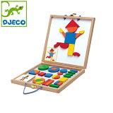 DJECO(ジェコ)【ジオフォームセットボックス】【あす楽対応】/パズル幼児/マグネットパズル/マグネットおもちゃ/ホワイトボードマグネット/