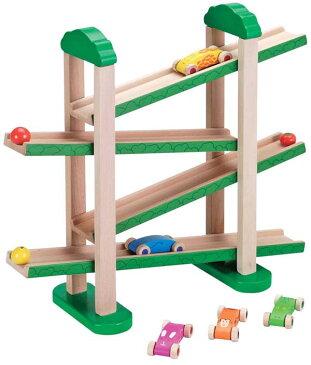 エドインター [森のうんどう会] [あす楽対応] 車のおもちゃ 木のおもちゃ 木製玩具 木のおもちゃ スロープ