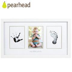 pearhead(ペアヘッド) ベビープリント・フォトフレーム ホワイト 手形/足形