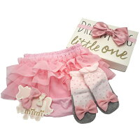 LITTLEONE出産祝いギフトBOX【3段チュールブルマ&靴下セット】/出産祝い女の子/