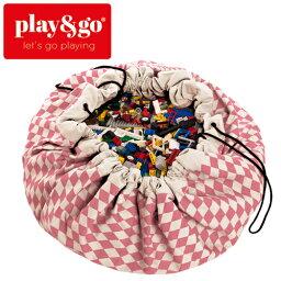 正規品 play&go(プレイアンドゴー) [ダイヤモンド ピンク] 2in1ストレージバッグ&プレイマット プリント [あす楽対応] /ベビーマット/プレイマット/おもちゃ箱
