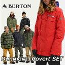 19-20 BURTON バートン メンズ スノーボード ウエア 上下セット 【Dunmore】JACKET+【Covert】PANT ship1 ...
