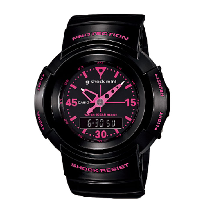 腕時計, 男女兼用腕時計  G-SHOCK MINI GMN-500-1B2JRBLACK-PINK ship1