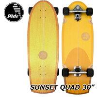 Slidesurfskateboardsスライドサーフスケートスケボーコンプリート【SUNSETQUAD30】正規品ship1