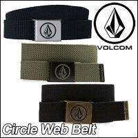 volcomベルトボルコムメンズ【新作】【CircleWebBelt】VOLCOMヴォルコム【あす楽_年中無休】【送料無料】