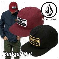 volcomキャップボルコムメンズ【新作】【BadgerHat】VOLCOMCAPヴォルコム帽子【あす楽_年中無休】