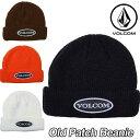 volcom ビーニー ボルコム メンズ 【Old Patch Beanie 】VOLCOM CAP 帽子 メール便可【返品種別OUTLET】