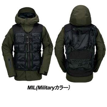 17-18VOLCOMボルコムスノーボードウェアNewモデルメンズジャケットスノーボード【MILITIA3-IN-1JACEKT】日本正規品予約販売品10月入荷予定
