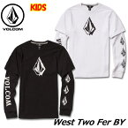volcom ボルコム キッズ ロングTシャツ 8-14歳 West Two Fer BY ユース 長そで C0341831 【返品種別OUTLET】