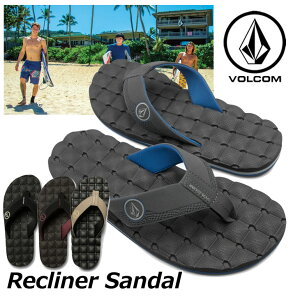 volcom ボルコム ビーチサンダル Recliner Sandal メンズ ビーサン V0811520 【返品種別OUTLET】