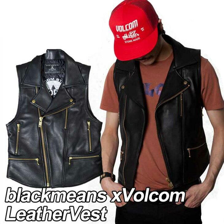 トップス, ベスト・ジレ volcom blackmeans xVolcom LeatherVest VOLCOM