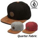 ボルコム キャップ メンズ VOLCOM CAP Quarter Fabric Hat Storm 帽子 D5531413 【返品種別OUTLET】