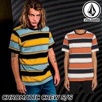ステッカープレゼントボルコムVOLCOMメンズTシャツCHROMATICCREWS/S半袖A0112002ship1