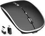 マウス BLENCK ワイヤレスマウス 充電式 2.4GHz 3DPIモード 光学式 高感度 小型 静音 省エネルギー Mac/Windows/surface/Microsoft Proに対応 技適認証取得済み (ブラック)