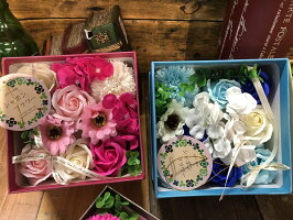 【あす楽】【クーポン】石鹸で出来たシャボンフラワーボックス 送料無料 石鹸 フラワーギフト シャボンフラワー 石鹸フラワー  枯れない花 造花 かわいい 人気 オススメ ソープフラワー