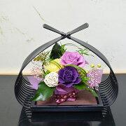 和風プリザーブドフラワー華凛(かりん)フラワーギフト花ギフト誕生日プレゼント古希お祝い敬老の日