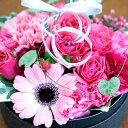 boxフラワー フラワーボックス あす楽対応 送料無料 生花の宝石箱♪ボックスフラワー カラー:ピンク 誕...