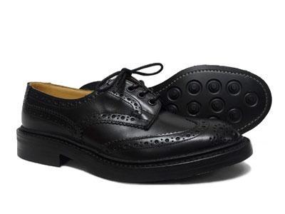 トリッカーズ バートン ウィングチップ カントリー ダイナイトソール Tricker's BOURTON M5633 <ブラック ><日本正規代理店>短靴 ローカット〔FL〕【楽ギフ_包装】【送料無料】