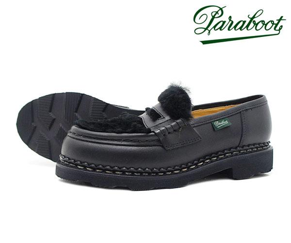 レディース靴, ローファー  150173 Paraboot Orsay Lapin Noir BLACK FL