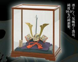 武比古作純銀置物兜剣付3号