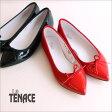 【La TENACE−ラ テナーチェ】ポインテッドトゥのエナメルバレエシューズ【020-VN】