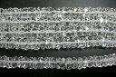 天然石 水晶 ボタンカット 6x3mm 約38cm h005 ( 石・天然石・パワース...