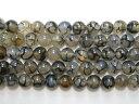 天然石10.5mm a1004 黒龍紋瑪瑙(ドラゴンアゲート)約38-40cm(石・天然石...