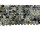 天然石8mm a0827 黒龍紋瑪瑙(ドラゴンアゲート)約38-40cm(石・天然石・...