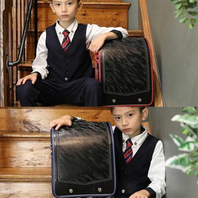 ランドセル男の子【送料無料】【返品保証】【6年保証】おとこのこカバー付ブラックネイビー