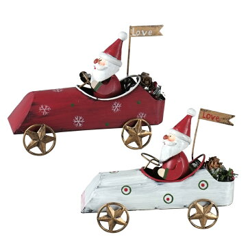 クリスマス CMブリキのおもちゃ ゼロヨンサンタ CM873S @1180x12(2種×2)《2018ke》 | オーナメント X'mas 園芸 インテリア ディスプレイ 装飾 冬