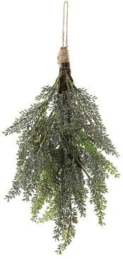 クリスマス 35cmシダースワッグ ホワイトグリーン @590×6本セット CAD-025 W/G 《2018ds》| ドアリース アートフラワー 造花 X'mas 玄関 飾り 園芸 冬