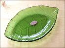 TOSSDICEトスダイスリーフガラストレイ(M)LEAFGLASSTRAY皿食器ガラス葉キッチン