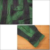 BIGMIKEビッグマイクHEAVYFLANNELSHIRTSヘビーフランネルシャツグリーン×ブラックネルシャツワークシャツチェック長袖10835103-7
