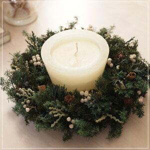 森の香りのクリスマス…直径約18センチ。針葉樹がベースのナチュラルリース♪エバーグリーン・...