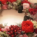 リース・エカラット/プリザーブドフラワー ギフト/ブリザードフラワー/【SALE セール】【フラワーギフト】玄関 リース,敬老の日,内祝い,花,バラ,ギフト,内祝い,母の日,アジサイ,誕生日,結婚祝い,新築祝い,開店祝い,還暦祝い,贈呈用,両親,【smtb-kd】,【楽ギフ_包装】