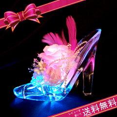 楽天1位獲得!シンデレラのガラスの靴が光ります♪クリスマス限定カラーが登場しました。プリザ...
