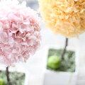 【人気のトピアリー】オレンジとピンクのパステルトピアリープリザーブドフラワーアレンジメント【送料無料】