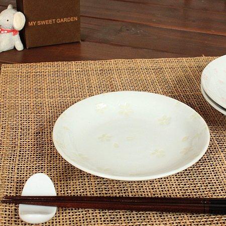 サクラ小皿(黄)(和食器 お皿 小皿 プレート 醤油皿 業務用 業務用食器 アウトレット 訳あり 多治見美濃焼 日本製)