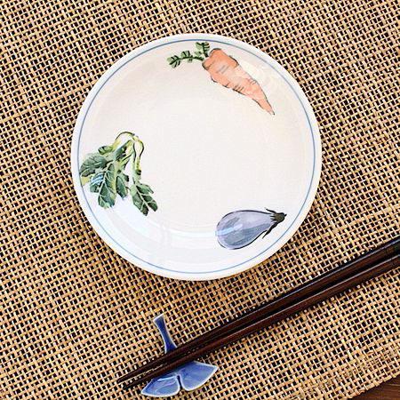 野菜シリーズ 小皿(中華食器 和食器 お皿 小皿 醤油皿 業務用 業務用食器 強化磁器 アウトレット 訳あり 多治見美濃焼 日本製)