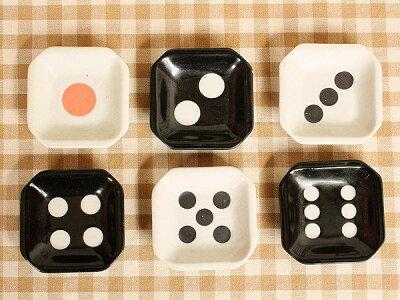 サイコロ小皿 《1》【洋食器・白い食器・アウトレット訳あり・多治見美濃焼・日本製】