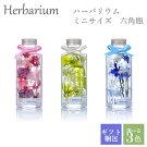 ハーバリウム母の日ギフトプレゼントミニサイズ六角瓶全3色