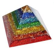 ボヘミアンオルゴナイト チャクラピラミッドオブジェ オルゴナイト スポット スピリチュアル ヒーリングアイテム ストーン ピラミッド