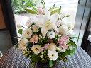 百合のホワイト&ピンクアレンジメント【白 ピンク 生花 フラ...