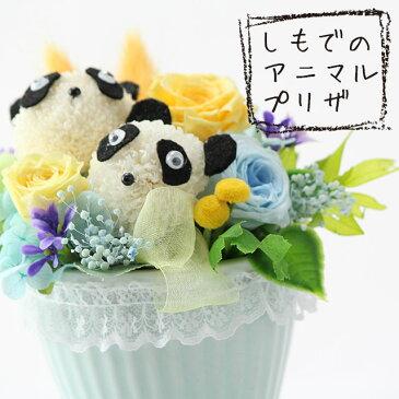 母の日に!パンダちゃん(2匹)のプリザーブドフラワーアレンジメントお花でできたかわいいアニマルアレンジ今話題のシャンシャン(香香)の誕生&成長にちなんで大人気です!