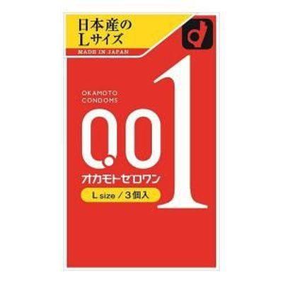 【メール便送料無料】オカモト 0.01(ZERO ONE) Lサイズ 【3個入×6箱】/コンドーム 避妊具