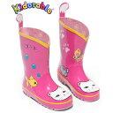 子供 キッズ 女児 ピンク 長靴 ねこ Kidorable(キドラブル)ラッキーキャットレインブーツ ネコ カワイイ プレゼント ギフト…
