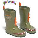 Kidorable(キドラブル) ダイナソー恐竜のレインブーツ 子供長靴 かいじゅう ワニ  プレゼント ギフトサービス セレブ 正規品…